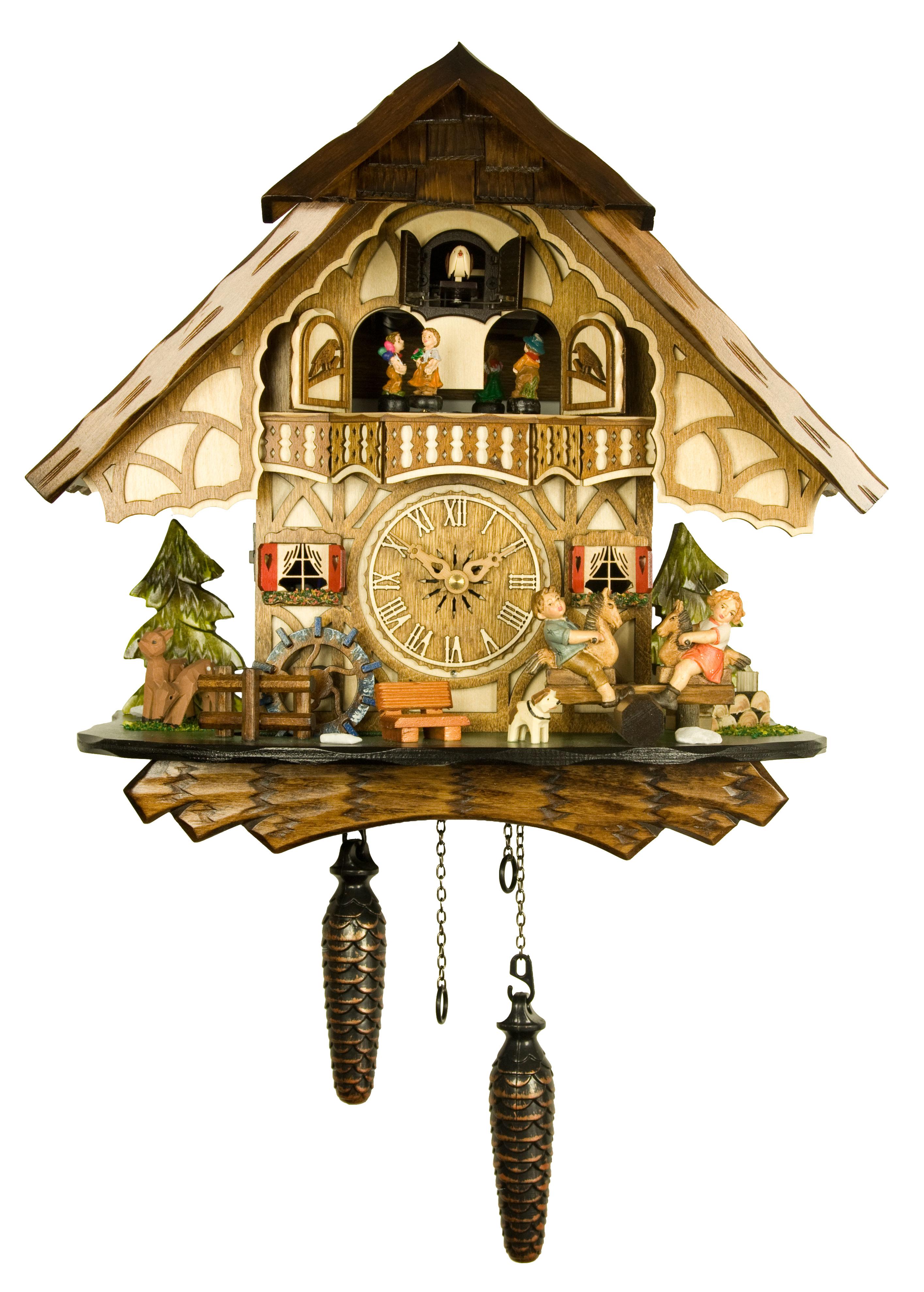 engstler quartz cuckoo clock the merry children quartz nr ah 4916 qmt. Black Bedroom Furniture Sets. Home Design Ideas